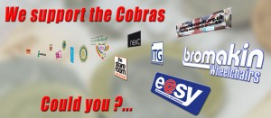 Leicester Cobras sponsors and supporters